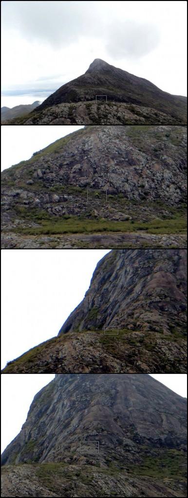 A visão do Fabiano, no vale entre o Calçado e o Cristal. Ainda bem que a minha touca era amarela!