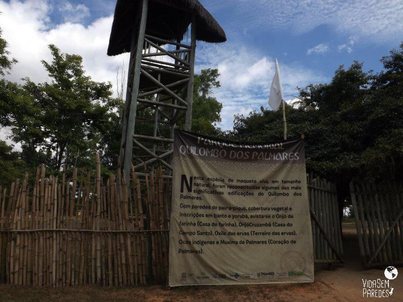 Entrada do Parque Memorial Quilombo dos Palmares