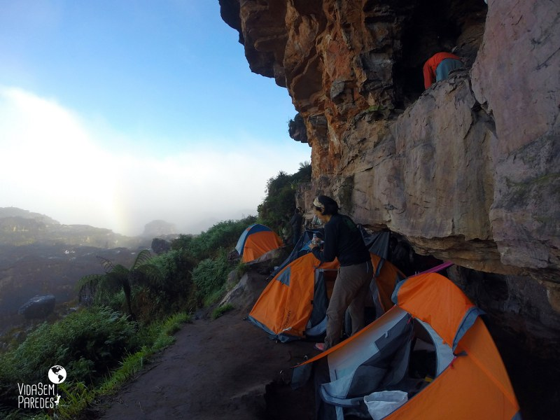 acampamentos no Monte Roraima : El Indio