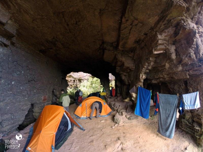 acampamentos no Monte Roraima : Quati