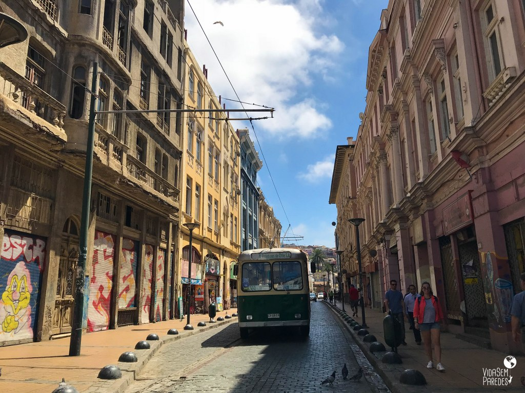 O que fazer em Valparaíso, Chile: centro histórico e trolebuses