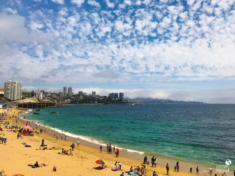 Melhores pontos turísticos em Viña del Mar, Chile: Playa Caleta Abarca