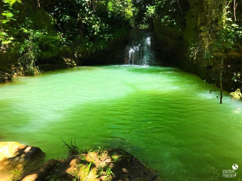 O que fazer em Mambaí, Goiás: cachoeira Poço Azul