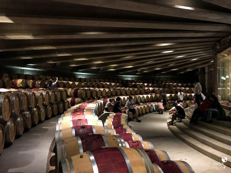 Vinícolas no Valle de Colchagua, Chile: Sala de Barricas da Viña Montes