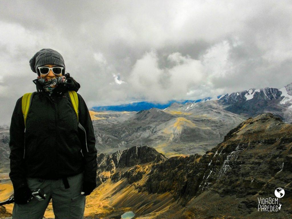 Montanha Chacaltaya em La Paz, Bolívia