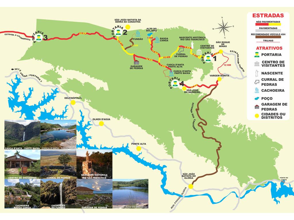 Mapa Parque Nacional da Serra da Canastra