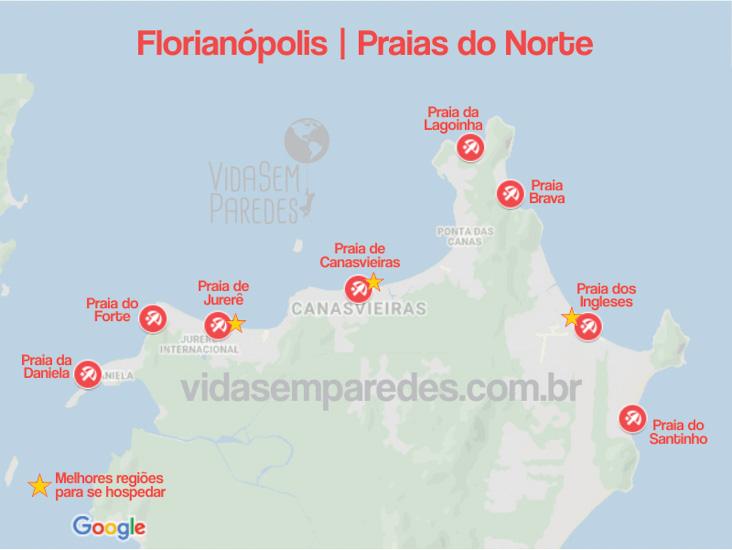 praias norte florianopolis