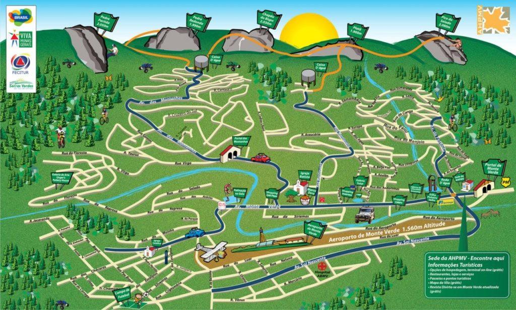 mapa monte verde